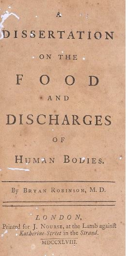 Observations on the food and discharges of Human Bodies